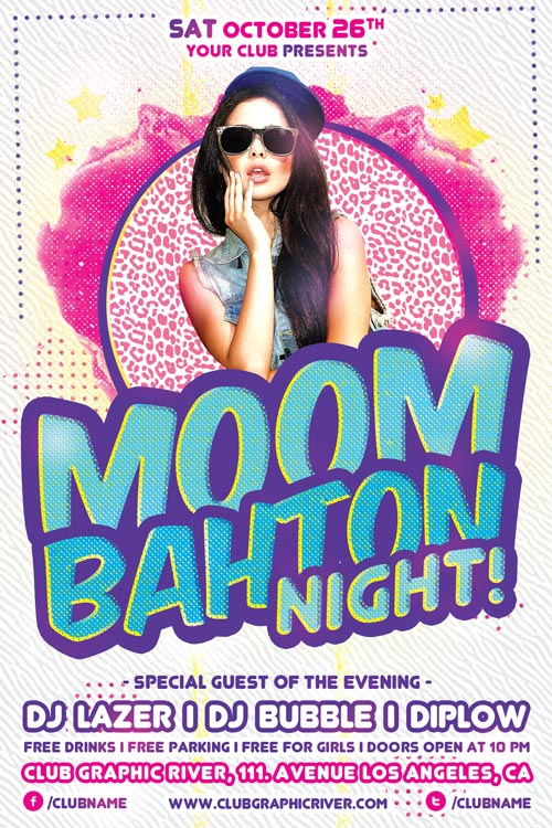 Moombahton Club Party Flyer Template