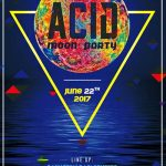 Free Acid Moon Party Flyer Template