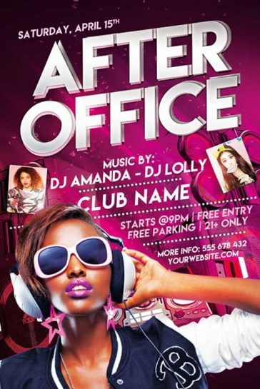 Free After Office Party Flyer Template