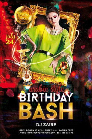 Free Birthday Bash Flyer Template