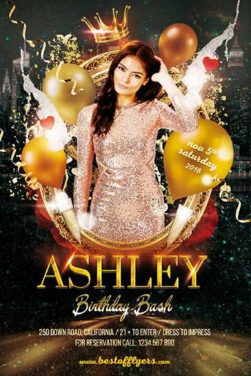 Free Birthday Bash Party Flyer Template