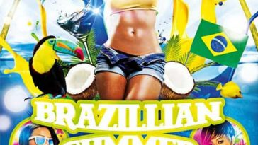 Free Brazil Summer Party Flyer Template