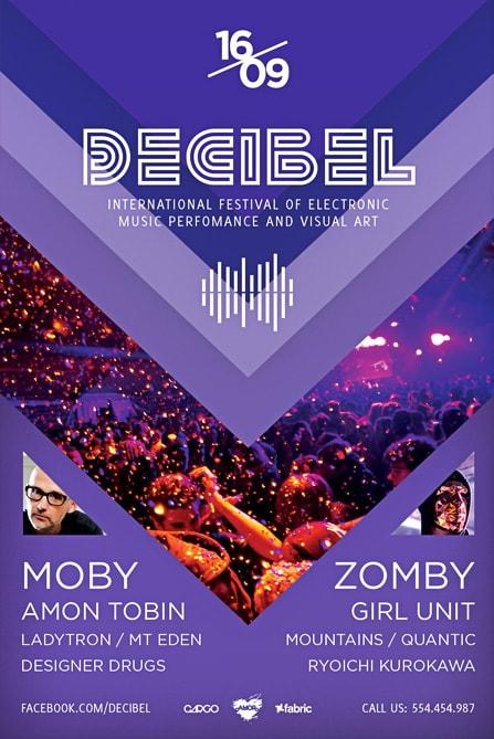 Free Decibel Electro Party Flyer Template