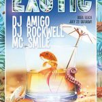Free Exotic Cocktails Summer Party Flyer Template