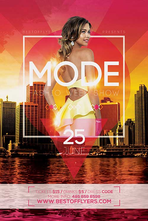 Free Fashion Week Party Flyer and Poster Template