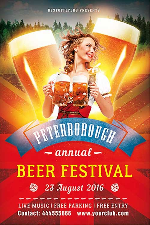 Free Beer Festival Flyer Template