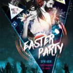 Free Easter Club Party Flyer Template