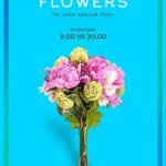 Free Flower Party Flyer Template