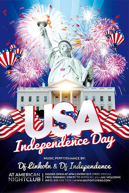 Free Independence Day Flyer and Poster Template