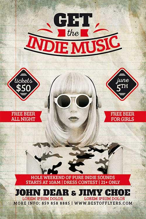 Free Indie Week Flyer Template