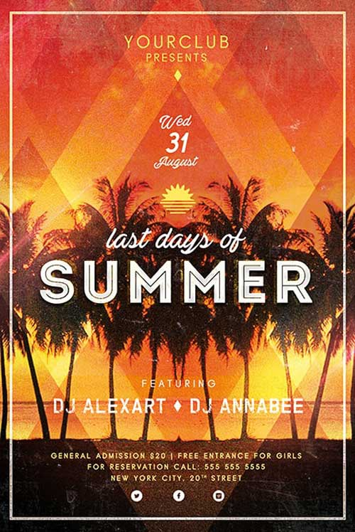 Free Last Days of Summer Flyer Template