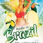 Free Made in Brazil Summer Flyer Template