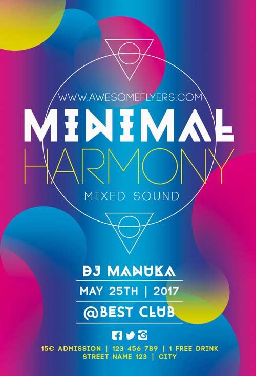 Free Minimal Harmony Flyer Template
