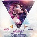 Free Minimal Techno Party Flyer Template