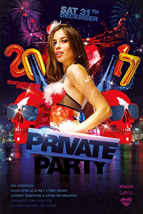 Free Private Party Flyer Template