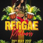 Free Reggae Madness Flyer and Poster Template