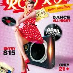 Free Retro Club Party Flyer Template