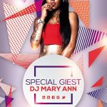 Free Special Guest DJ Party Flyer Template