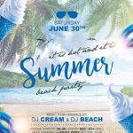 Free Summer Party Flyer and Poster Template