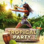 Free Tropical Party Flyer Template