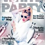 Free White Party Flyer Template