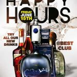 Free Happy Hours Poster and Flyer Template