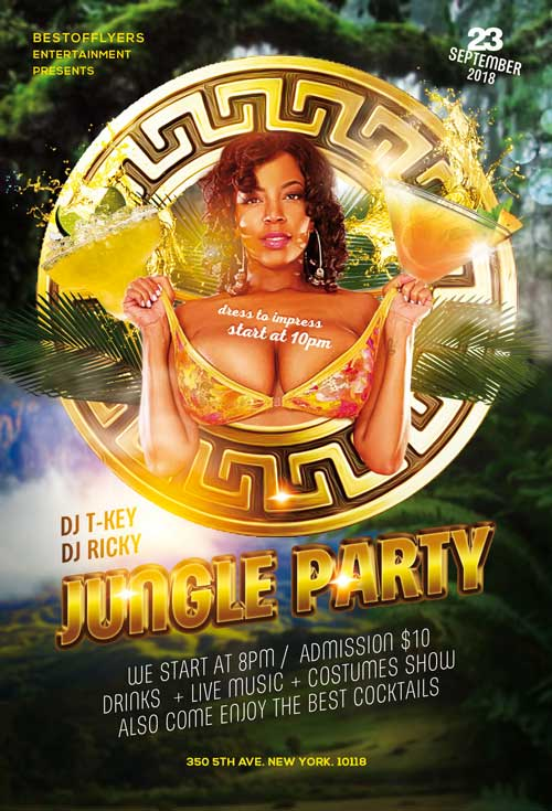 Free Jungle Party Flyer Template
