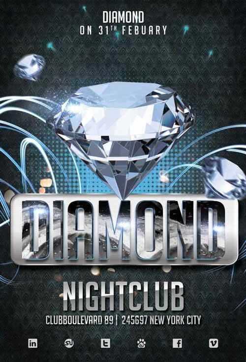 Diamond Club Party Free Flyer Template