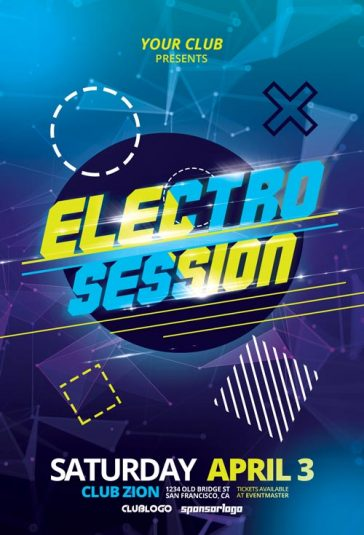 Electro Club Session Vol. 1 Free Flyer Template