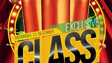 Exclusive Class Club Free Flyer Template