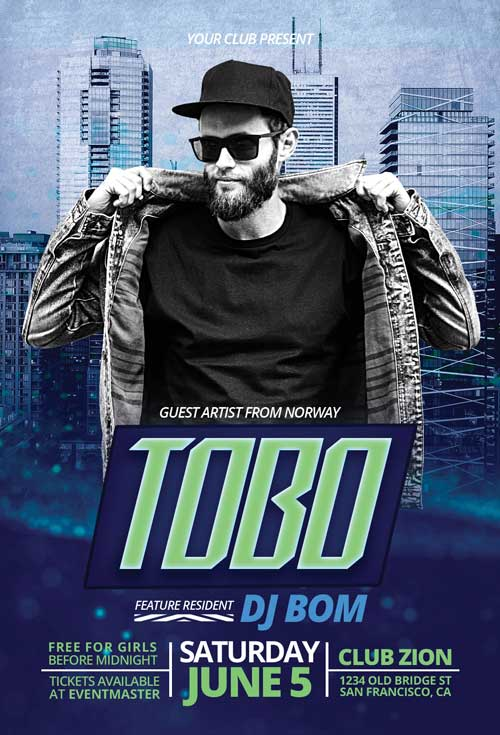 Exclusive DJ Artist Free Flyer Template