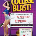 College Blast Party Free Flyer Template