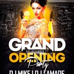 Grand Opening Party Vol. 1 Free Flyer Template