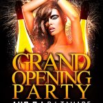 Grand Opening Party Vol. 2 Free Flyer Template