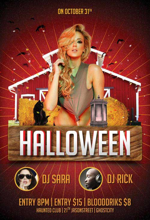 Halloween Party Free Flyer Template