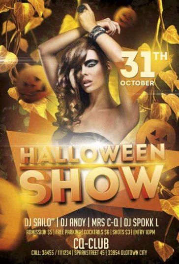 Halloween Show Free Flyer Template