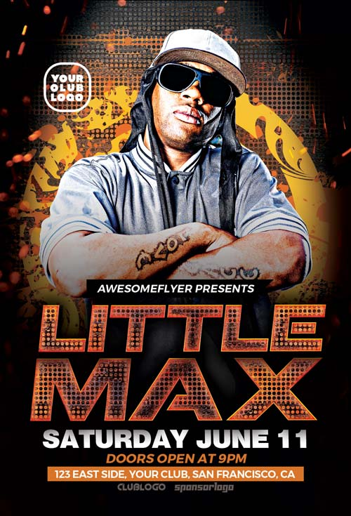 Hip Hop DJ Party Free Flyer Template