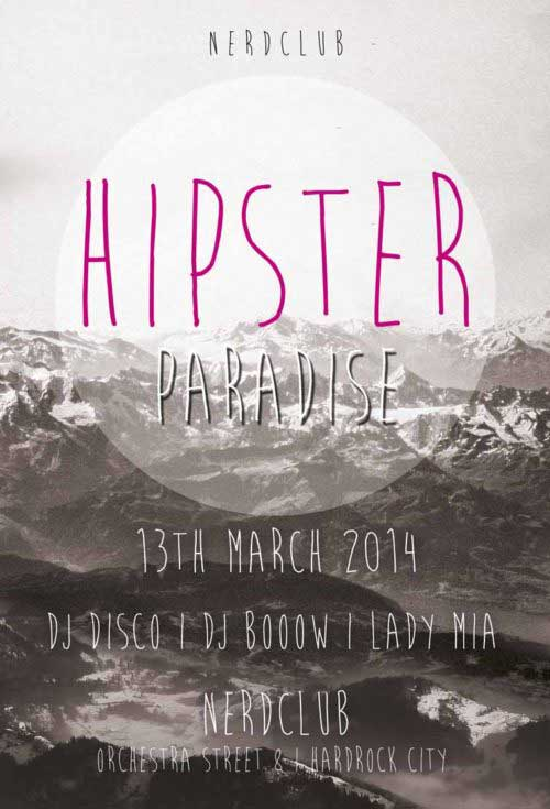 Hipster Paradise Party Free Flyer Template