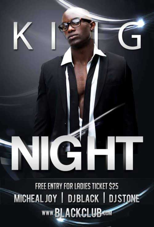 King Night Party Free Flyer Template