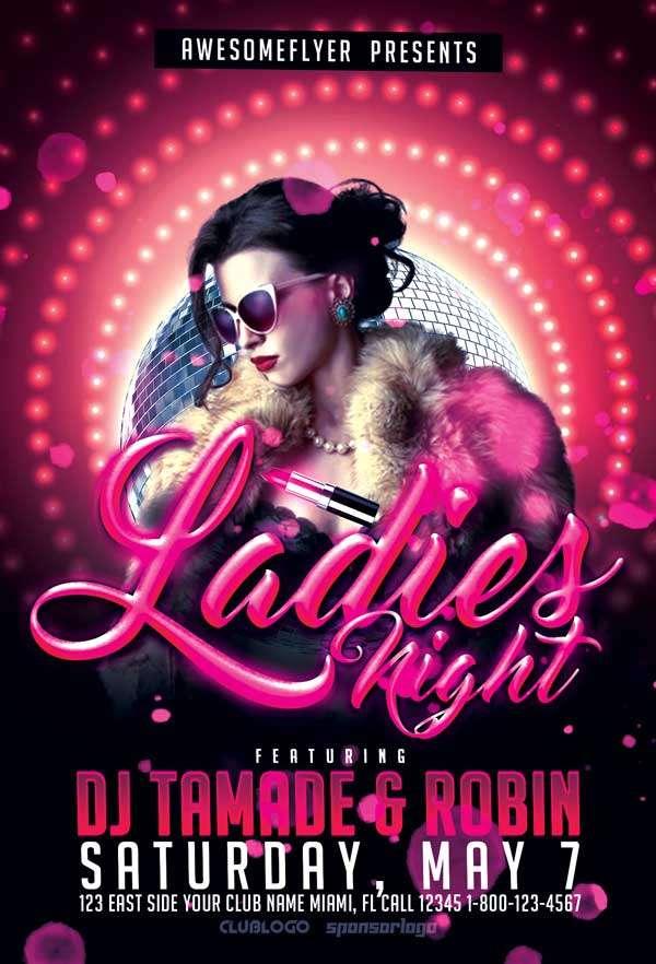 Ladies Night Free Flyer Template