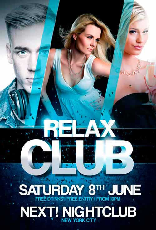 Relax Club Party Free Flyer Template