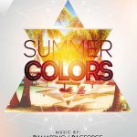 Summer Colors Party Free Flyer Template