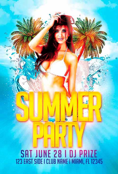 Summer Party Vol. 2 Free Flyer Template