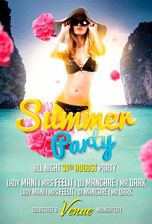 Summer Party Vol. 1 Free Flyer Template