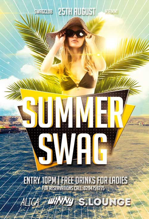 Summer Swag Party Free Flyer Template