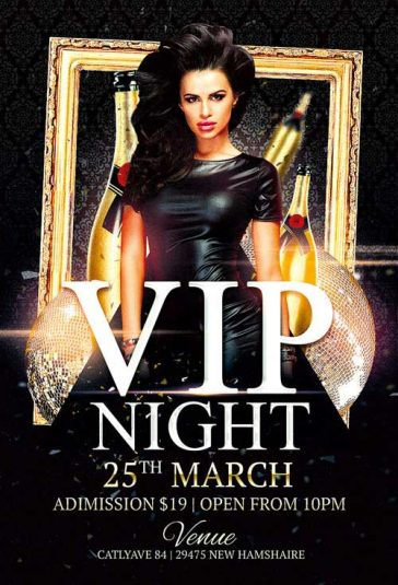 Vip Night Club Party Free Flyer Template