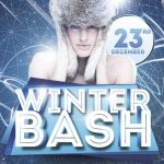 Winter Bash Party Free Flyer Template
