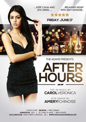 After Hours Party Free Flyer Template