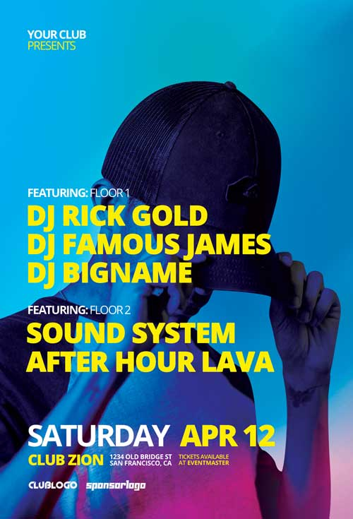 DJ Music Festival Flyer and Poster Template