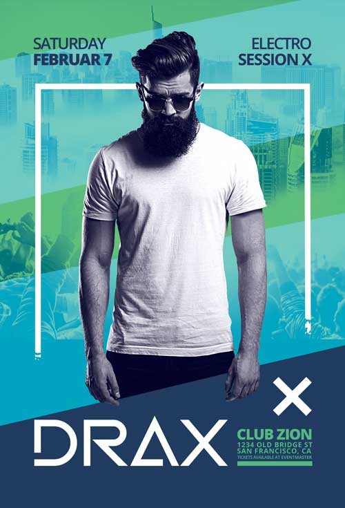 Club DJ Artist Free Poster and Flyer Template